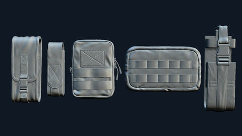 Tactical Pouch . 5 pack - tactical military equipment