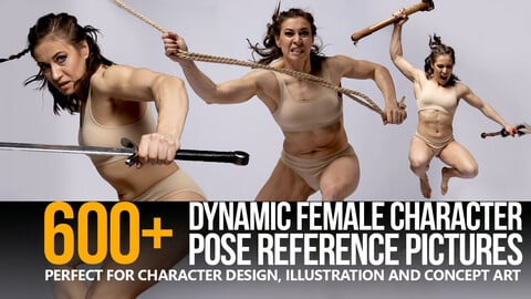 600+ Dynamic Female Pose Reference Pictures