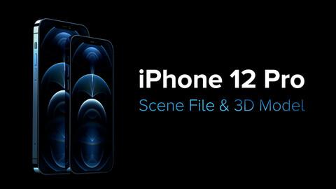 iPhone 12 Pro 3D Model + Scene File (Blender / Octane)