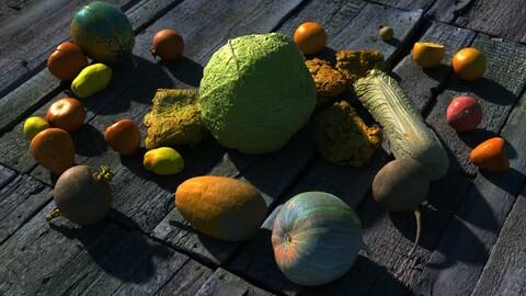 28 Food items | Cinematic LODs | 4K PBR