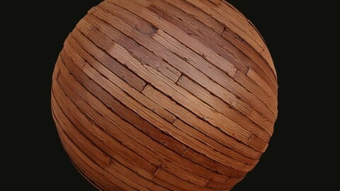 Stylized Wooden Planks Material + Source Files - Free Download