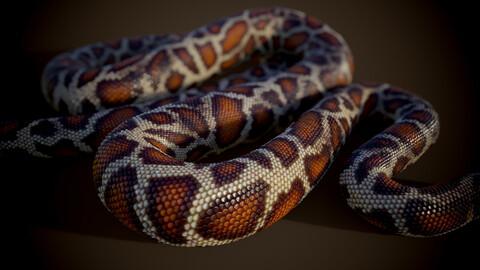 Snake skin smart substance material