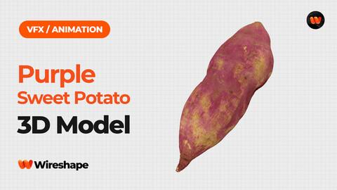 Purple Sweet Potato - Extreme Definition 3D Scanned