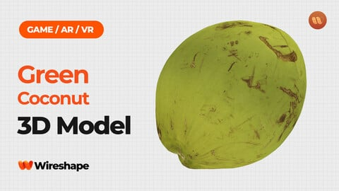 Green Coconut - Real-Time 3D Scanned