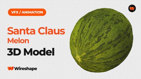 Santa Claus Melon - Extreme Definition 3D Scanned