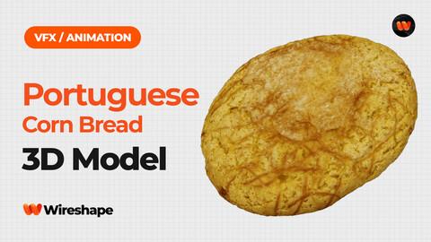 Portuguese Corn Bread - Extreme Definition 3D Scanned