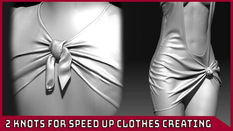 2 IMM Knots for speed up clothes creating in zBrush