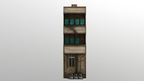 Cyberpunk Building 1 3D Model