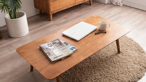 Henna Folding Living Room Wood Sitting Table 3size