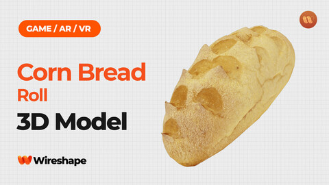 Corn Bread Roll - Real-Time 3D Scanned