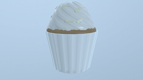 Cup cake 3D model