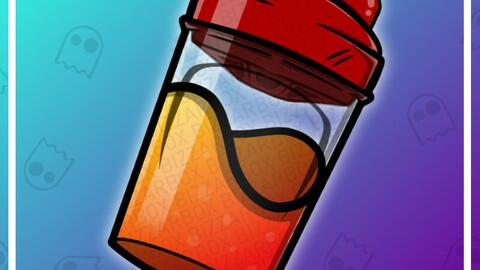 Twitch Emote: Energy Drink Shaker