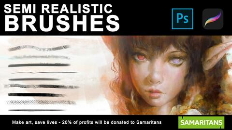 Semi Realistic Brushes 🖌️ (Photoshop and Procreate)