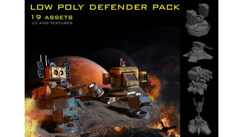 low poly defender pack