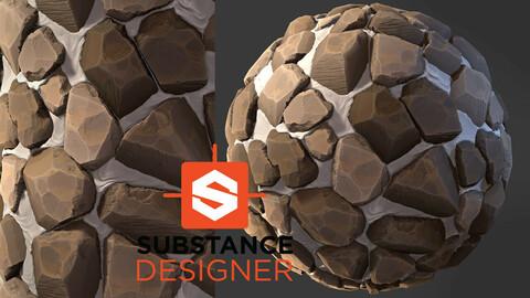 Stylized Rock Floor - Substance Designer