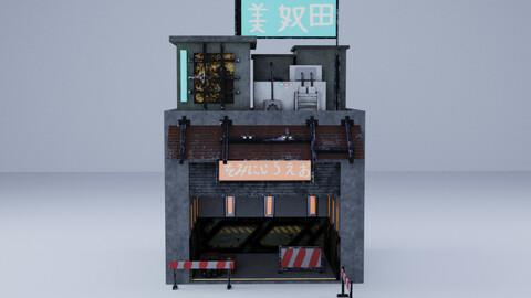 Cyberpunk Building 2 3D Model