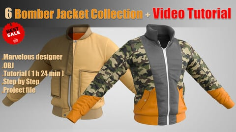 6 Bomber Jacket Collection + Video Tutorial