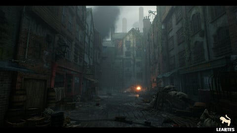 Victorian Decayed Alley Environment / Unreal Engine 4