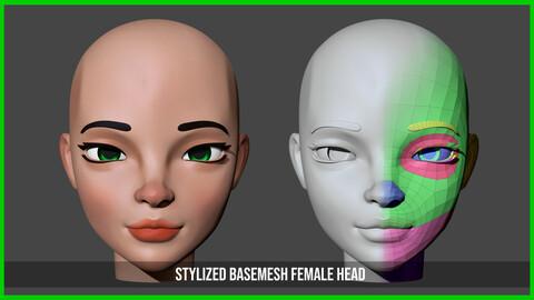 Stylized Basemesh - Female Head