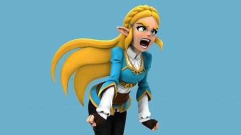 Zelda BOTW Statue STL