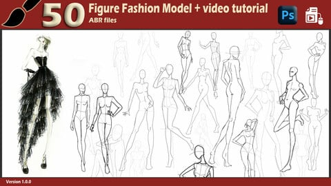 50 Brush Model Figure / Demo video - Fashion designer