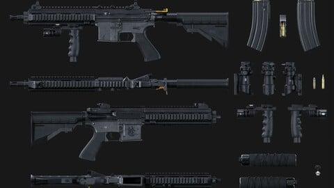 HK416 + Attachments