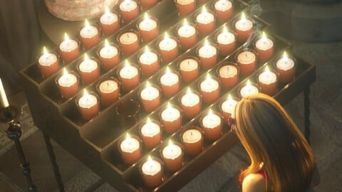 Votive Candles and Stand