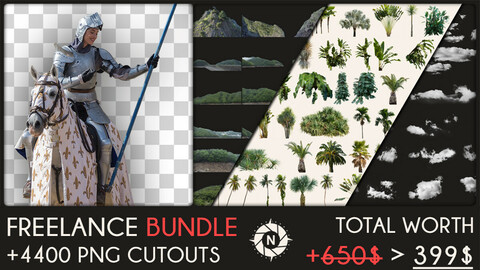 Freelance Bundle: +4400 PNG Cutouts + Future packs for FREE