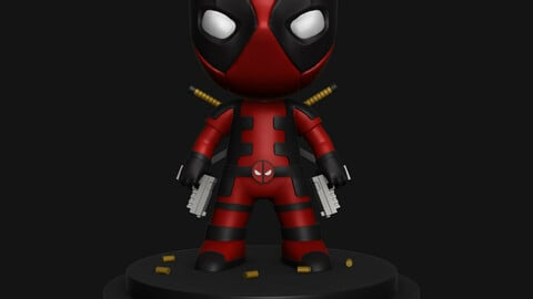 Deadpool STL For 3D Printing