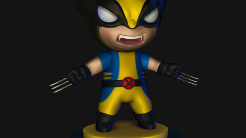 Wolverine STL For 3D Printing