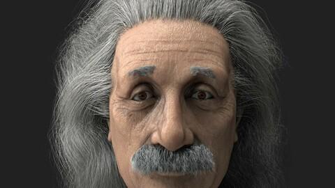 Albert Einstein 3D Low poliy Realistic Character Model 3D model