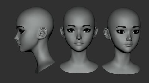 Cute Girl Starter Head Ver S