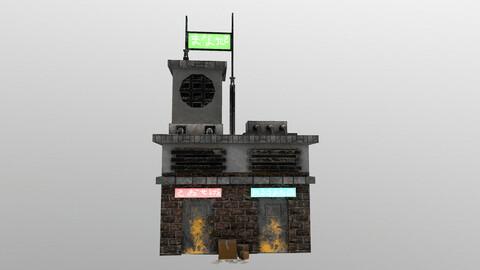 Cyberpunk Building 6 3D Model