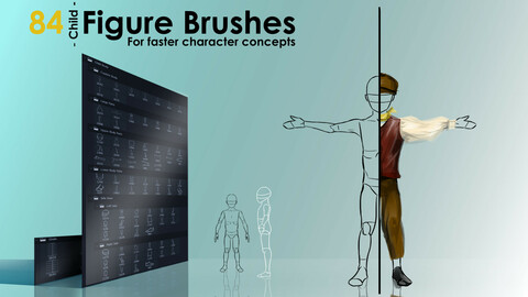 Figure Brushes - CHILD - For Faster Character Concepts