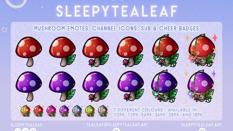 Mushroom Sub & Cheer Badges