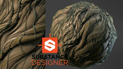 Stylized Roots Material - Substance Designer