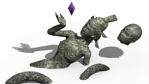 Xuanwu Lake - snake demon stone carving