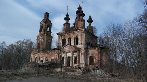 900+ Photos of abandoned villages in Russia, Abandoned churches, interiors, and views from the outside, huts, roads, landscapes