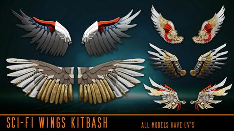 Sci-fi Wings Kitbash