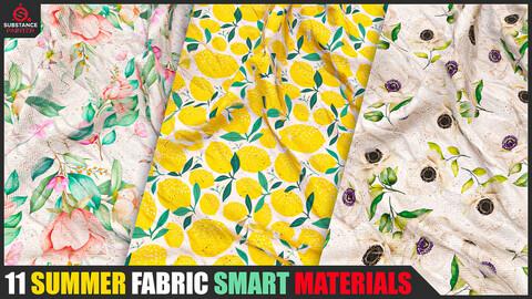 11 Summer Fabric Smart Materials (Substance Painter)