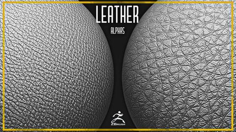 20 Leather Alphas Vol.6 (ZBrush, Substance, 2K)