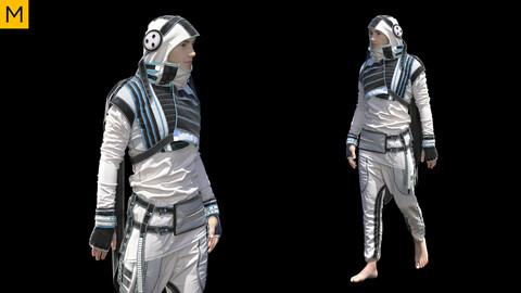 Sci-fi Male Clothing. Avatar genesis 8 Male. Marvelous Designer, Clo3d project + OBJ/FBX files. (27)