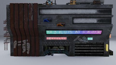 Cyberpunk Building 12 3D Model