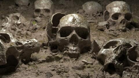 Ground with Broken Skulls DETAILED VERSION