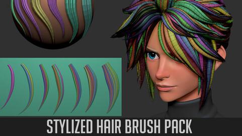 Stylized Hair Brush Pack