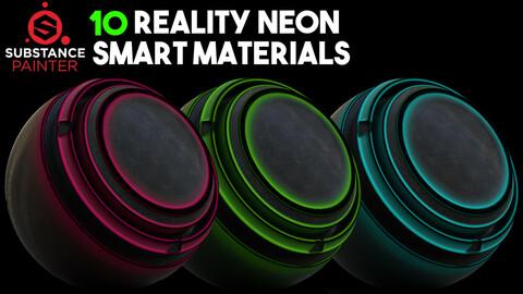 10 Smart Neon Materials / .spsm