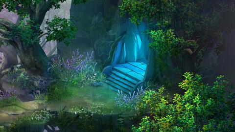 Fairy town - mountain and portal