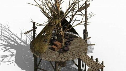 Primitive tribe - tree building 01