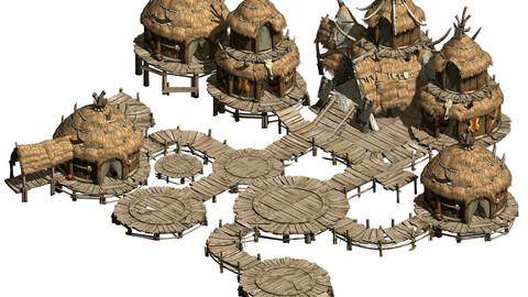 Primitive tribes - water village architecture