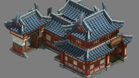 Ancient Chinese architecture - craft shop